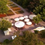 Killesberg Höhenpark - Blick auf den Killesberg Jahrmarkt