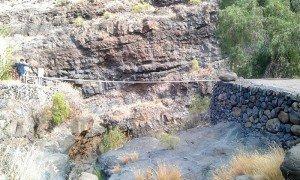 Auf La Gomera wandern - der Barranco de Argaga kurz nach dem Einstieg