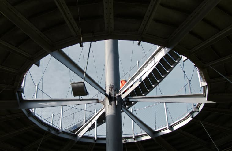 Der Killesbergturm im Höhenpark - spannende Konstruktion