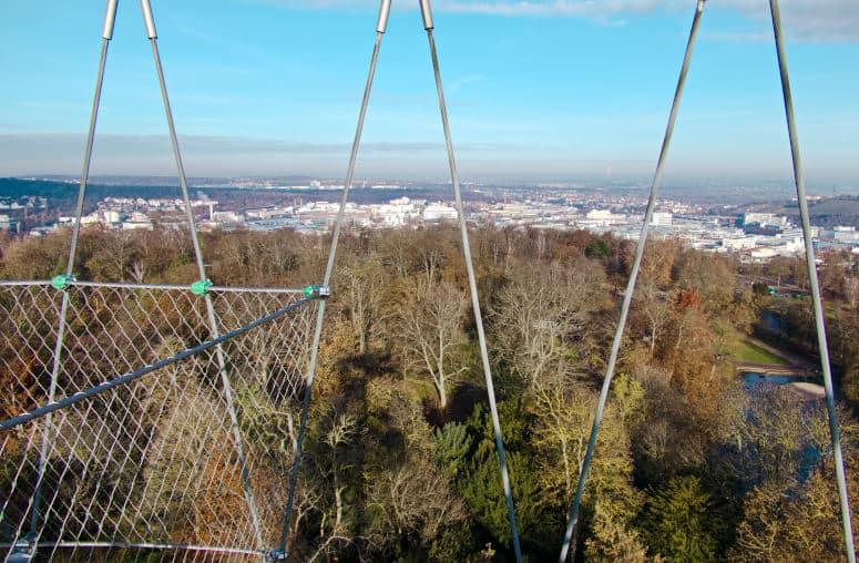 Fernblick vom Killesbergturm aus in Richtung Heilbronn