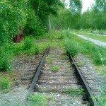 Die Zeche Zollverein - Grüne Gleisanlagen