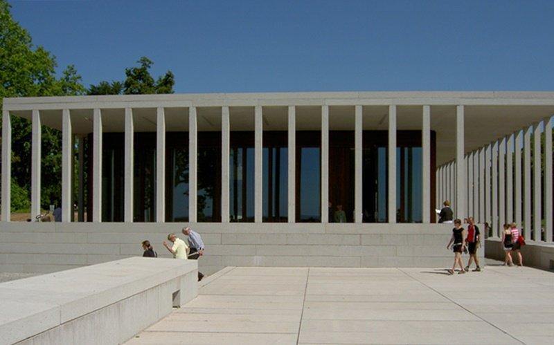 Literaturmuseum der Moderne in Marbach - Terrasse mit Eingang
