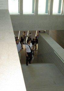 Literaturmuseum der Moderne in Marbach - Treppe zum Untergeschoss