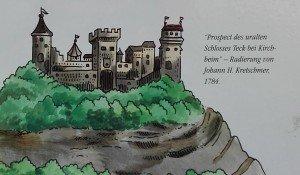 Burg Teck - Prospektzeichnung von 1784