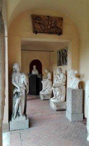 Das Lapidarium in Stuttgart - Wandelgang mit Skulpturen aus der römischen Antike