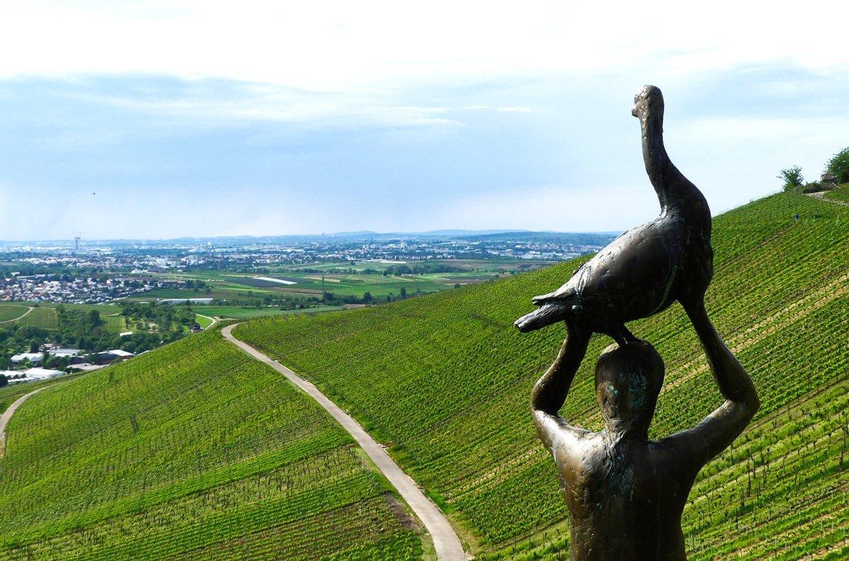 Skulpturenpfad Strümpfelbach - Ausblick