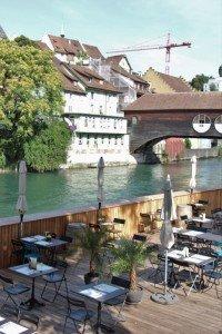 Die Frischluftbar Triebguet in Baden in der Schweiz