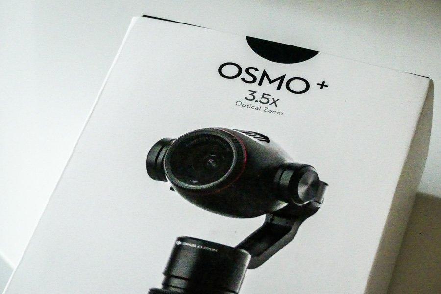 DJI Osmo Plus Verpackung mit Coverseite bei der Lieferung