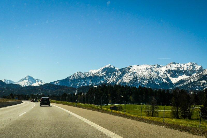 Allgäu rund um Füssen - Anfahrt aus Richtung Ulm