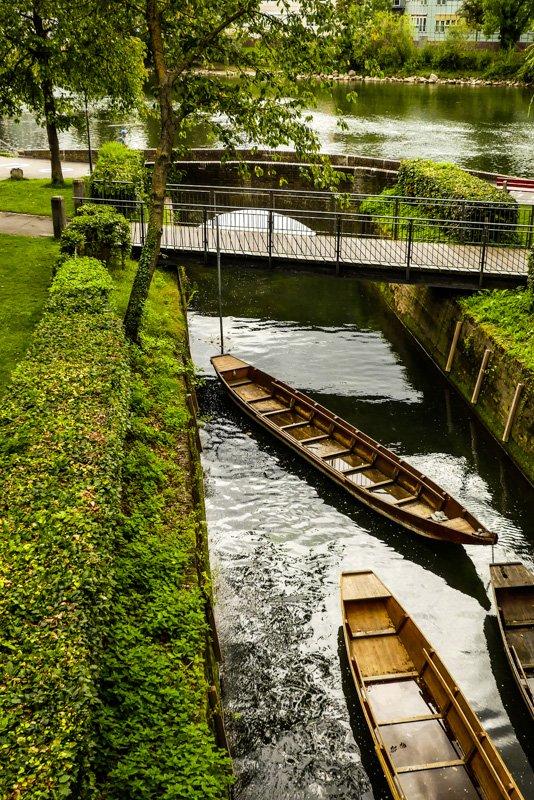 Zufluss der Blau in die Donau im Ulmer Fischer- und Gerberviertel
