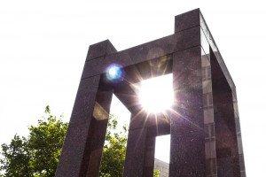 Wissenswürdigkeit: das Albert Einstein Geburtshaus Denkmal in Ulm