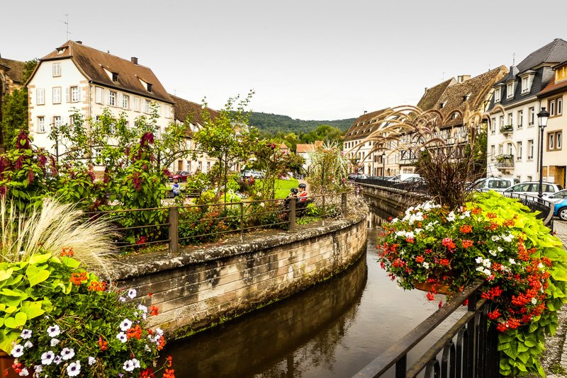 Wissembourg - Frankfreich Elsass - Blumenpracht entlang der Lauter