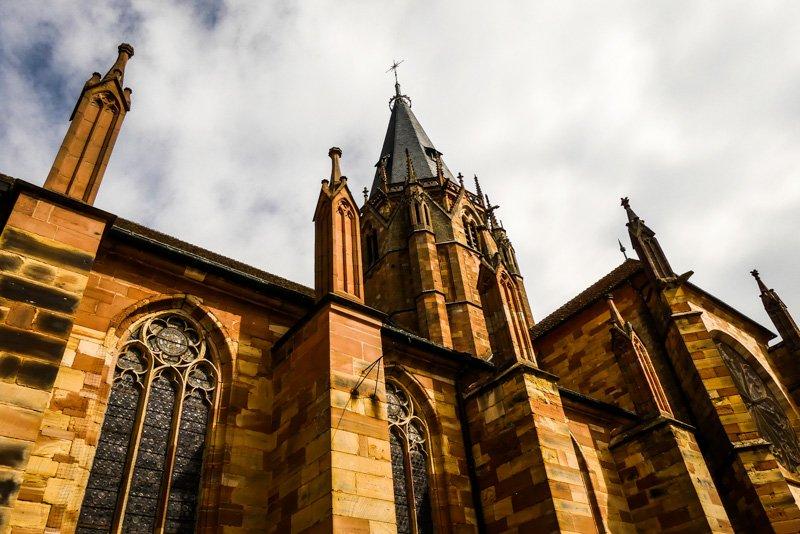 Wissembourg - Frankfreich Elsass - die Kirche St. Peter und Paul