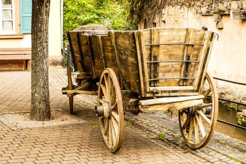 Wissembourg - Frankreich Elsass - Idylle mit alter Kutsche