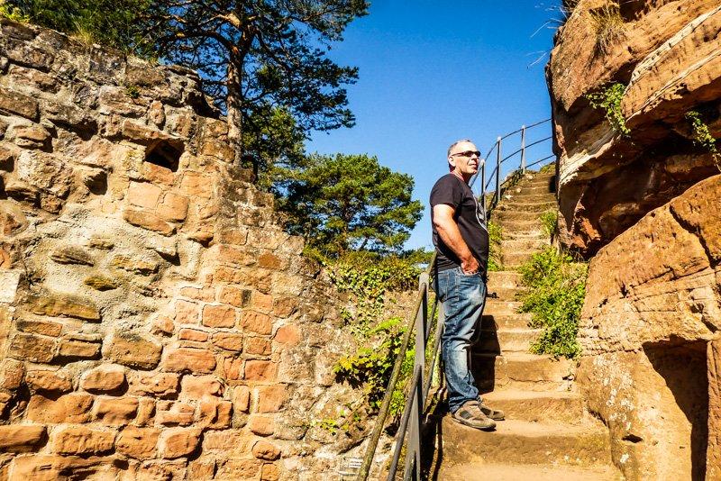 Mit meinem Gastgeber und Freund Kai unterwegs an der Dahner Burggruppe