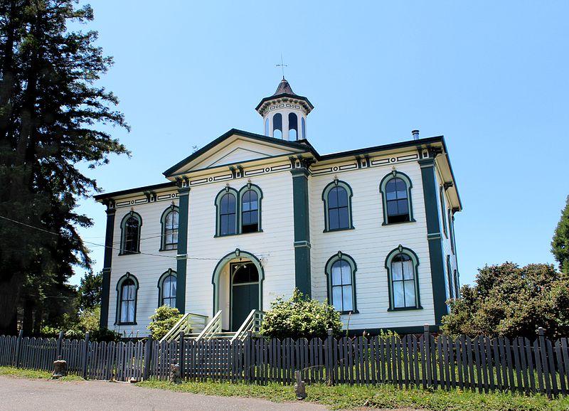 "Bodega - Kalifornien - Potter-Schoolhouse - Legende aus dem Film ""Die Vögel"""