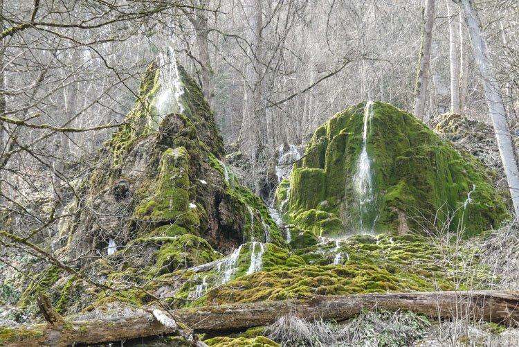Gütersteiner Wasserfälle - wunderschön die Kalktuffen von vorne