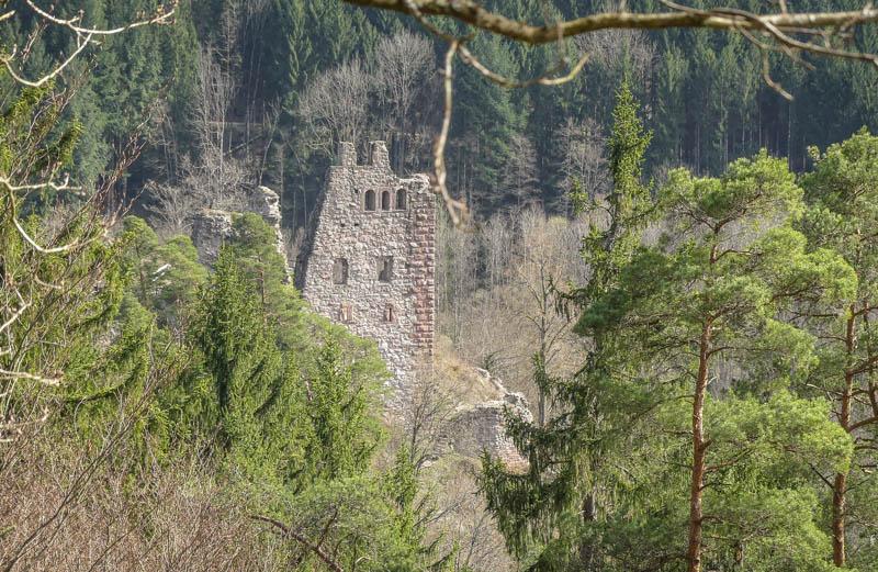 Wandertour Schiltach - die Schenkenburg im Blick