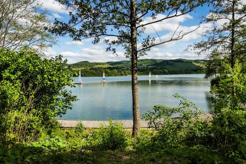 Heilbronner Land und Löwensteiner Berge - Blick über den Breitenauer See