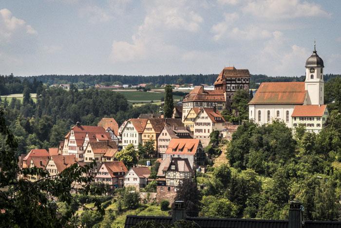 Ausflugsziele rund um Nagold - Altensteig - Blick auf die Altstadt mit Schloss