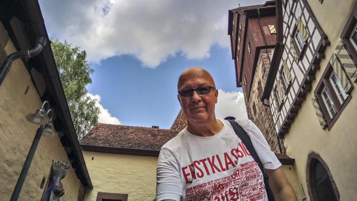 Ausflugsziele rund um Nagold - Altensteig - Selfie am Schloss Altensteig