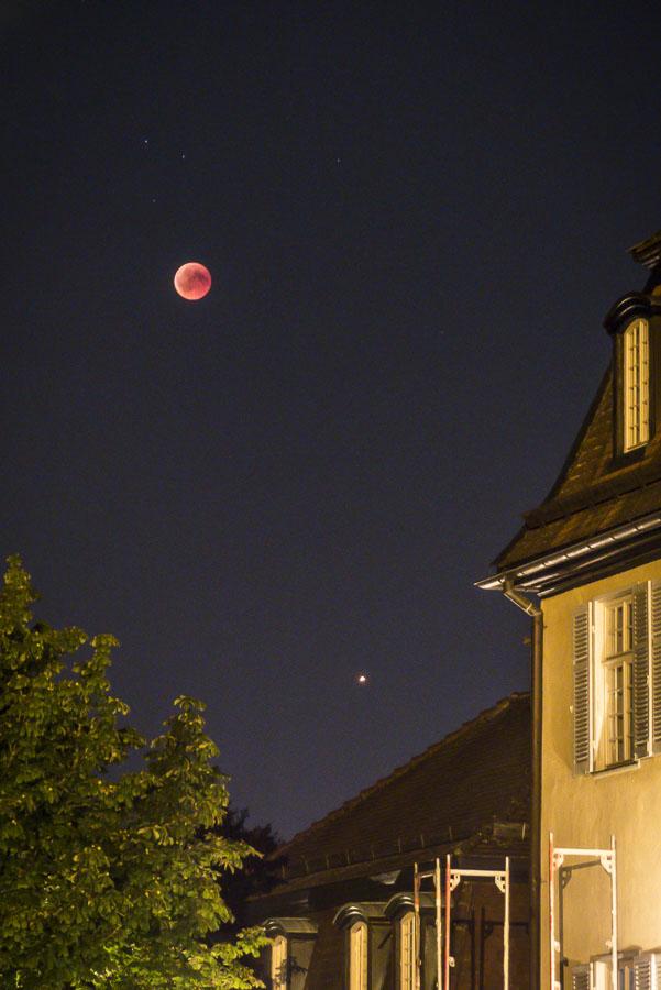 Mondfinsternis Gerlingen - Juli 2018 - Schloss Solitude - um 21.50 Uhr