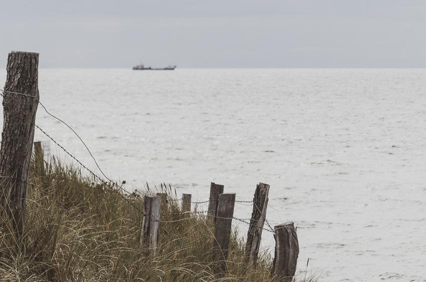 Sylt - Uferpromenade Westerland - die Dünenlandschaft und das Meer