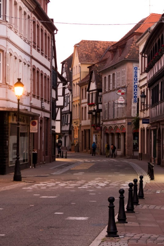 Wissembourg-Stimmung-in-der-Abenddämmerung