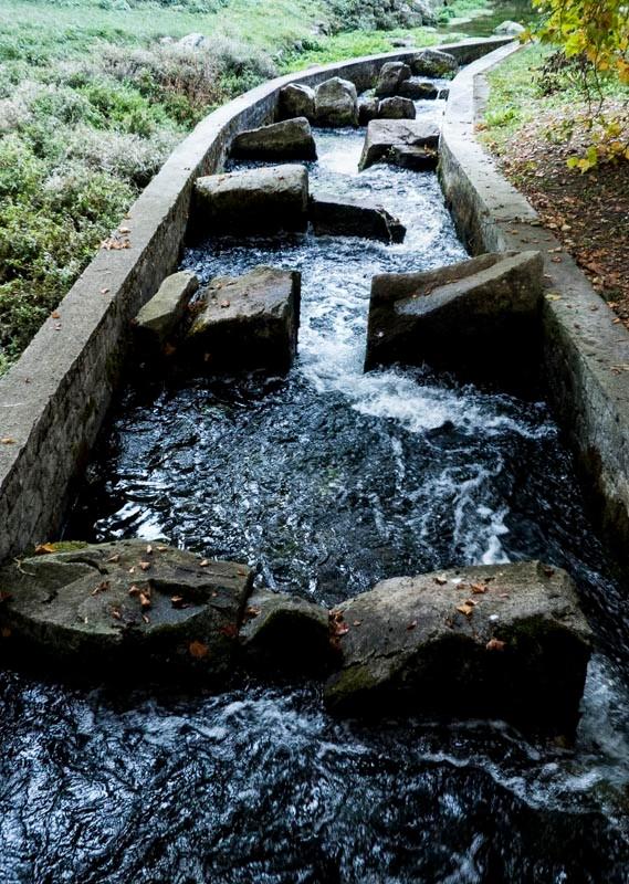 Die-Aachquelle-in-Aach-Abfluss-und-Fischtreppe