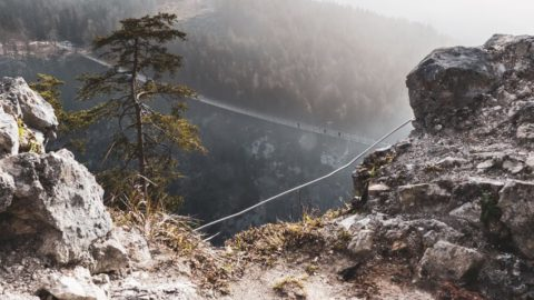 Fantastische Herausforderung: die Hängebrücke Highline 179 bei Reutte