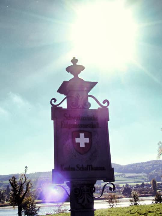 Klosterinsel Werd bei Stein am Rhein - Grenzübergang zum Kanto Schaffhausen