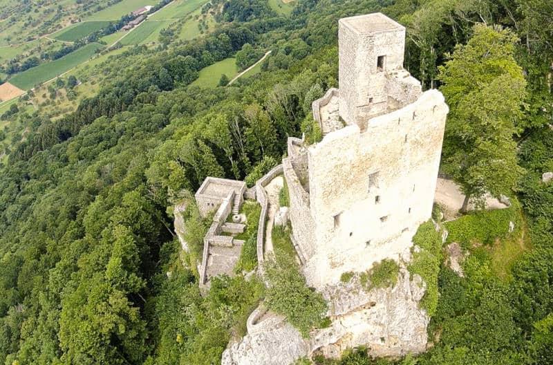 Ruine Reußenstein bei Neidlingen - Vogelperspektive