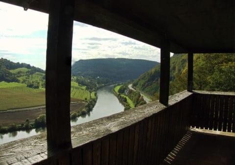Vier Burgen und drei Gründe für eine Tour bei Neckarsteinach