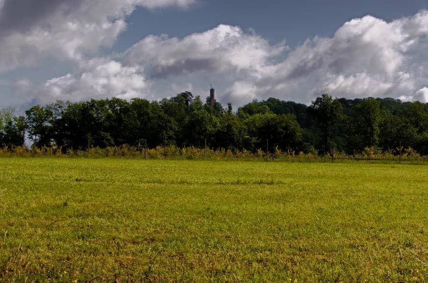 Der Bleichsee bei Löwenstein - die Burg Löwenstein kurz im Blick