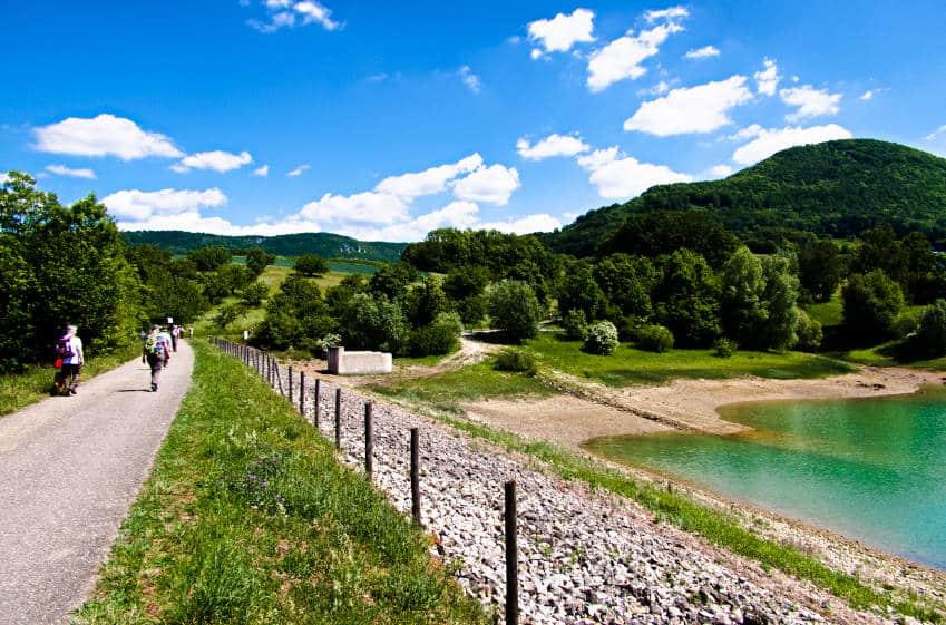 Glems Stausee - schwäbische Alb - Blick auf die wunderschöne Umgebung