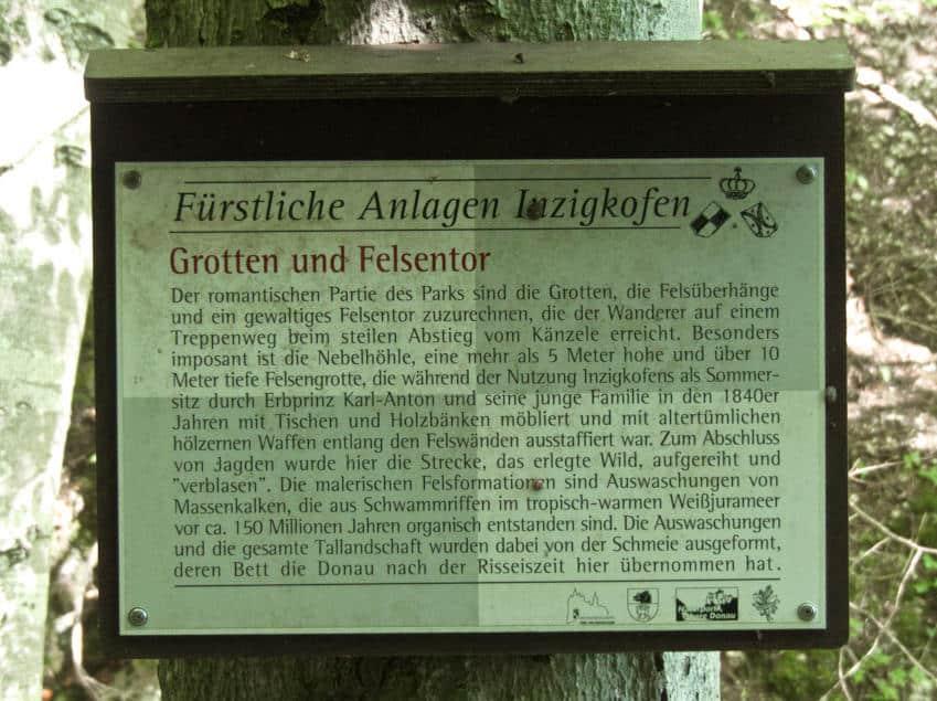 Grotten und Felsentor Inzigkofen - was es mit der Historie auf sich hat