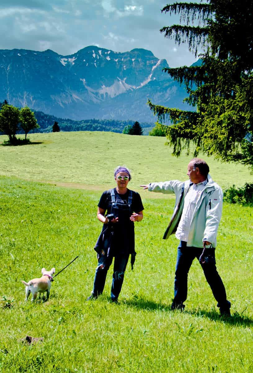 Hopfensee Rundweg - Andy und Tanja in Aktion - was auch immer die beiden erzählen wollen