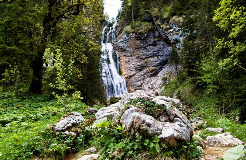 Kenz Fälle im Lobental oberhalb der Kenzenhütte - schönes Naturschauspiel