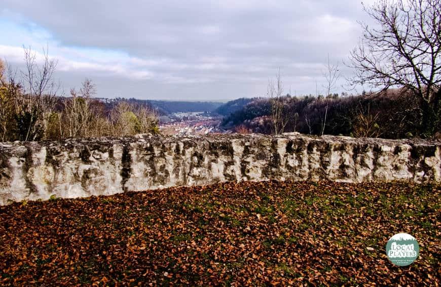 Ruine Albeck - fantastischer Blick über Sulz am Neckar in Richtung Nordosten