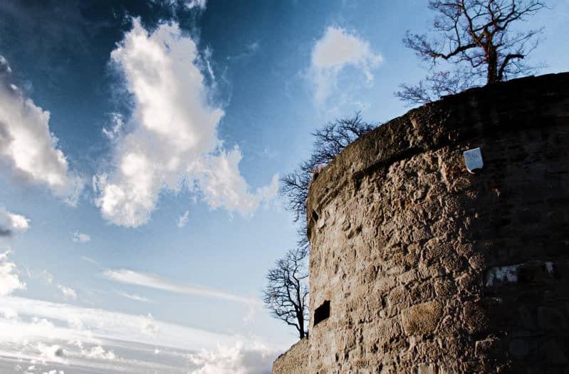 Festung Hohenasperg bei Asperg - Dramatik am Himmel