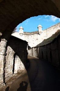 Festung Hohenasperg bei Asperg - der Aufgang vom Löwentor aus