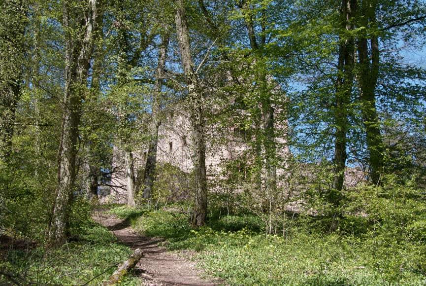 Die Minneburg Neunkirchen bei Neckargerach - die ersten Konturen werden sichtbar